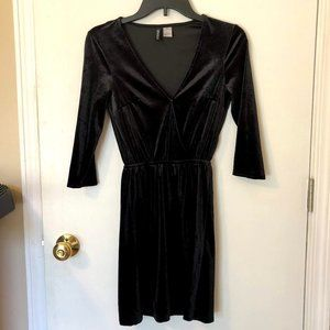 Little Black Velvet Dress